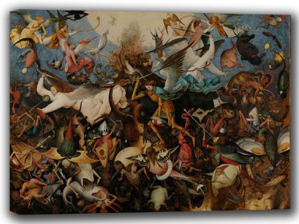 Bruegel the Elder, Pieter: The Fall of the Rebel Angels. Fine Art Canvas. Sizes: A4/A3/A2/A1 (002008)